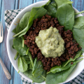 Easy Taco Salad plus Guacamole | Plaid and Paleo