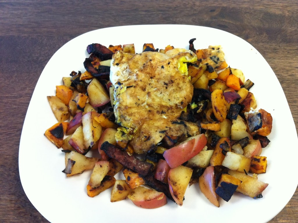 Butternut Squash and Apple Breakfast Hash