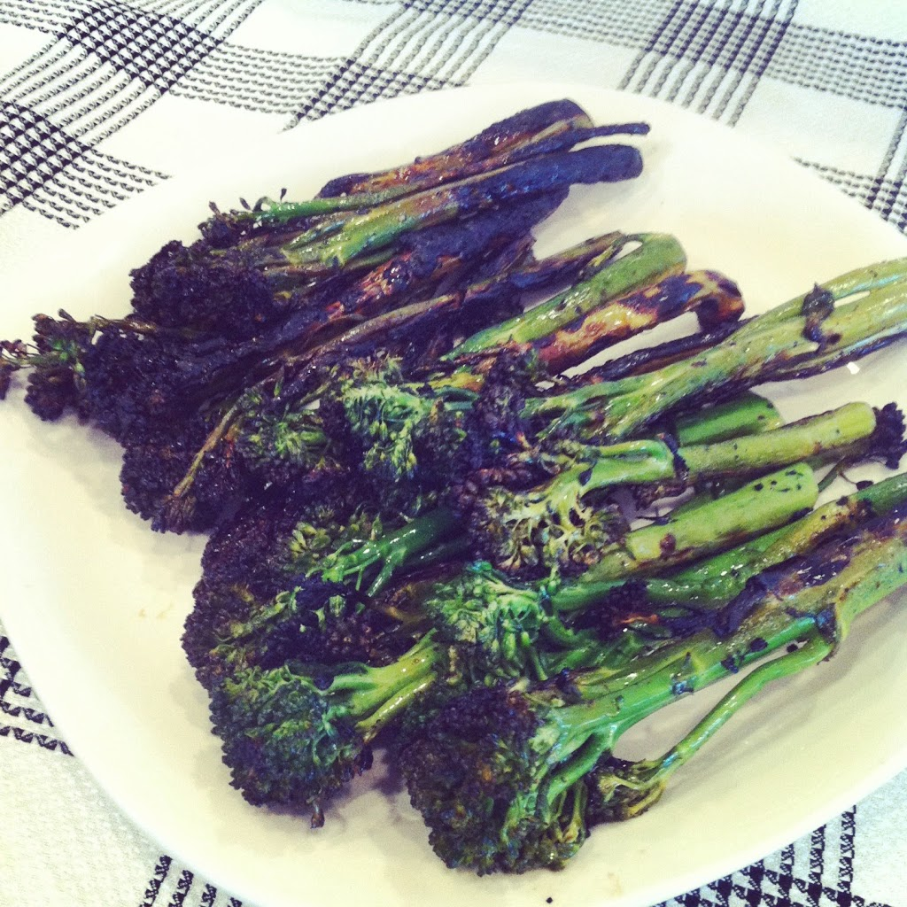 Grilled Broccolini | Plaid and Paleo