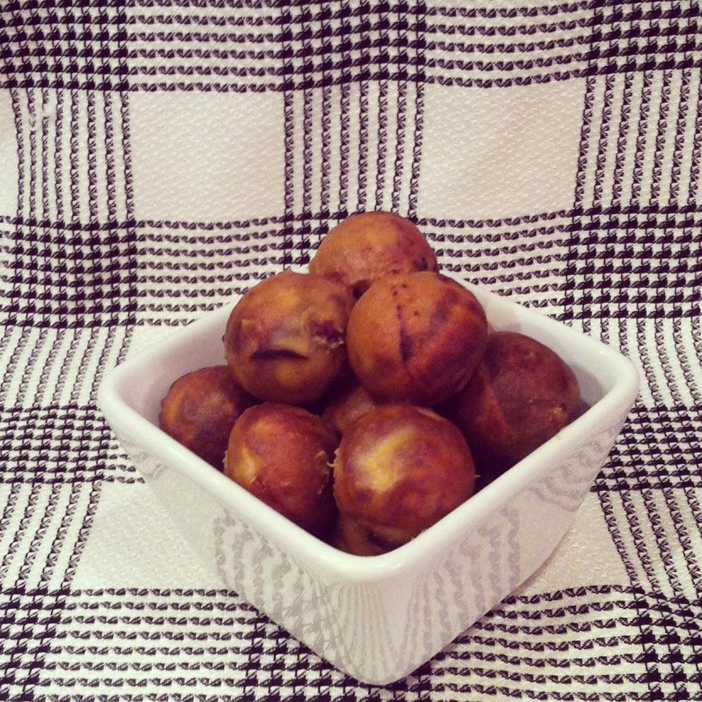 Peach Coconut Donut Holes
