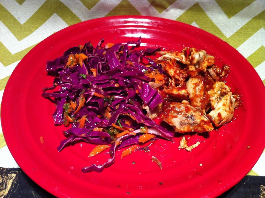 Paleo Sweet BBQ Chicken and Coleslaw