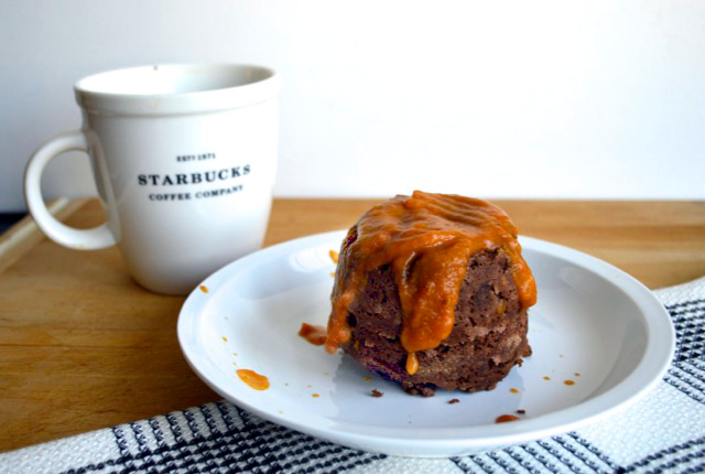 Double Chocolate Pumpkin Mug Cake