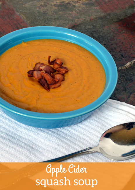 Apple Cider Squash Soup | Plaid and Paleo