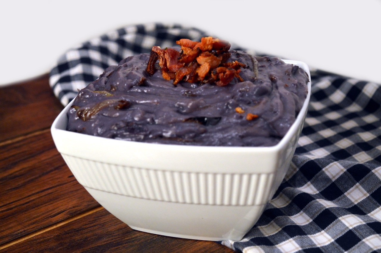 Loaded Mashed Purple Sweet Potatoes