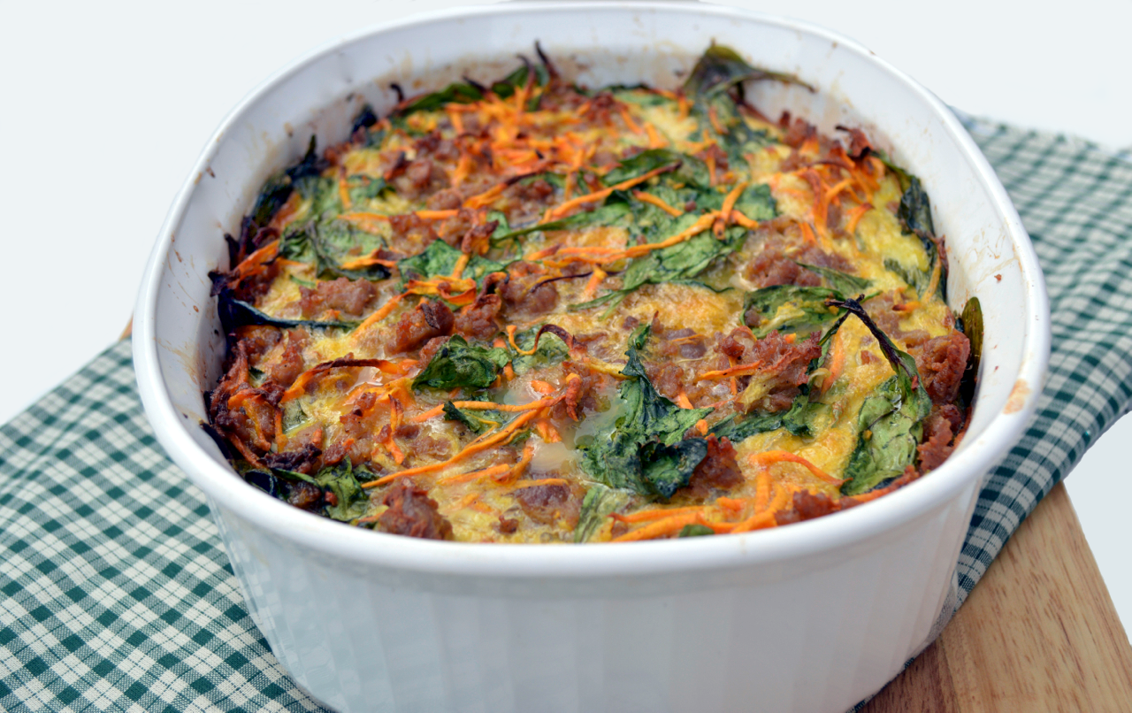 Sausage and Sweet Potato Breakfast Casserole