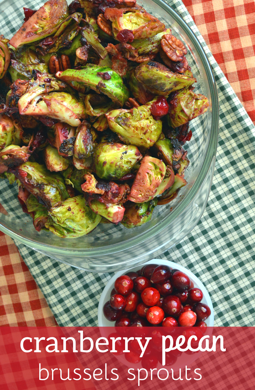 Cranberry Pecan Brussels Sprouts