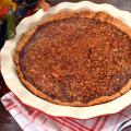 Paleo Apple Butter Pecan Pie | Plaid and Paleo