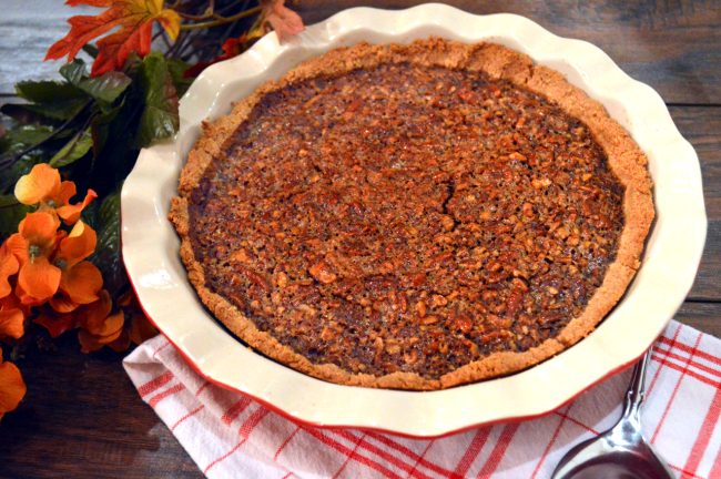 Paleo Apple Butter Pecan Pie | Plaid and Paleo