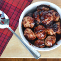 Cranberry Turkey Meatballs | Plaid and Paleo