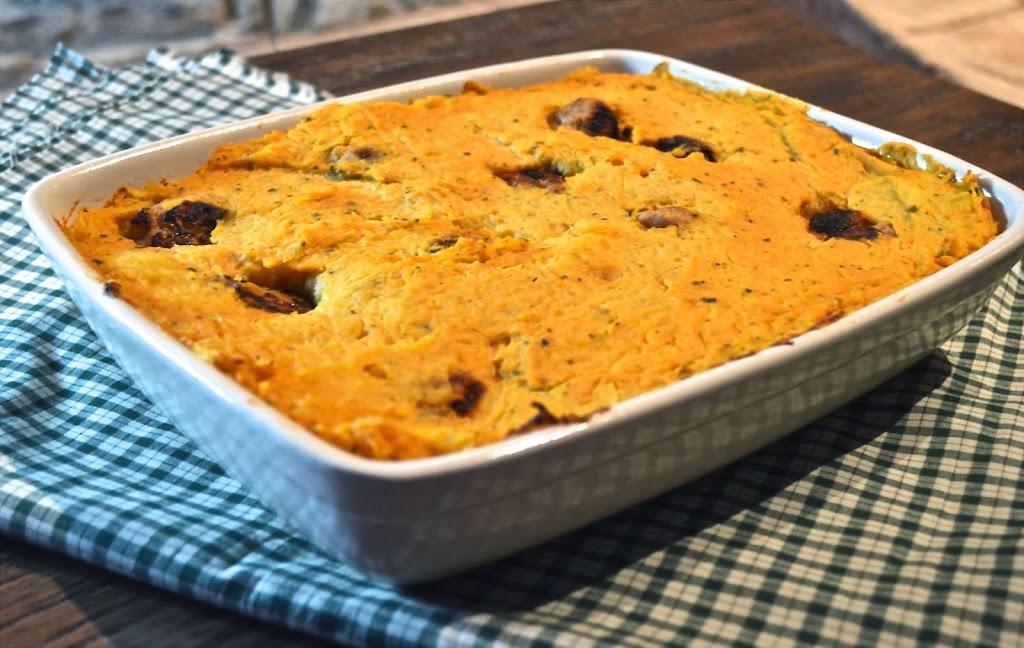 Twice Baked Sweet Potato Pasta   Plaid and Paleo