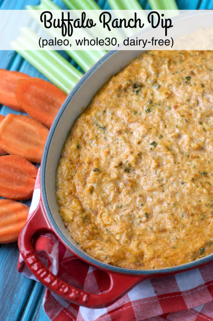 Paleo Buffalo Ranch Dip | Plaid and Paleo