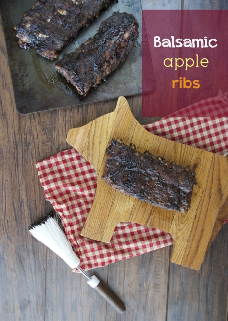 Balsamic Apple Ribs | Plaid & Paleo