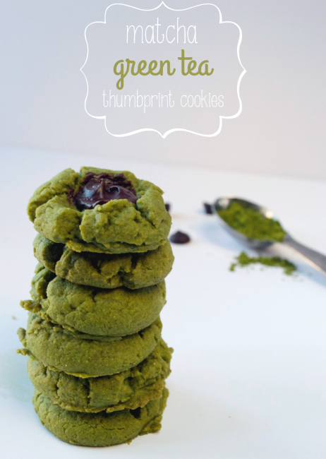 Matcha Green Tea Thumbprint Cookies | Plaid and Paleo