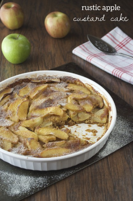 Rustic Apple Custard Cake | Plaid & Paleo