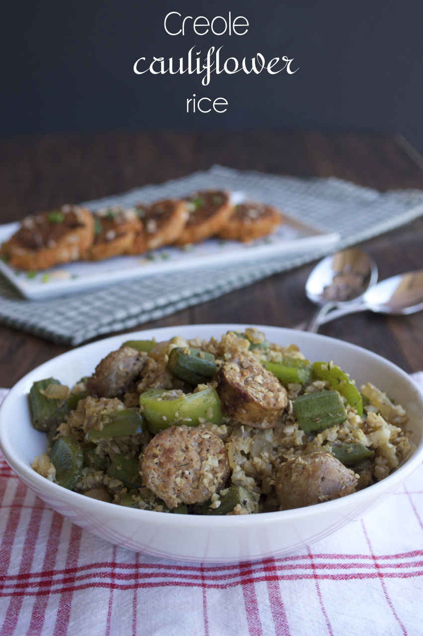 "Creole Cauliflower ""Rice"""