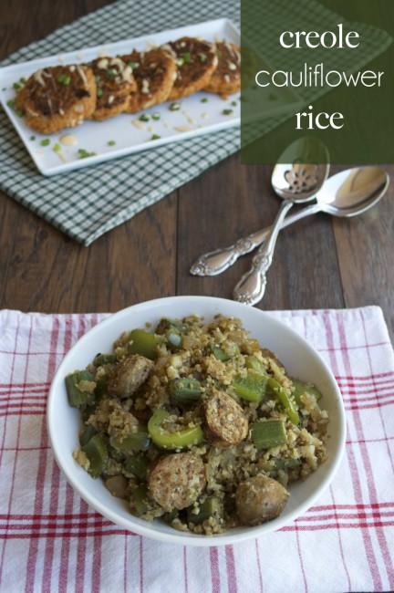 Creole Cauliflower Rice | Plaid & Paleo