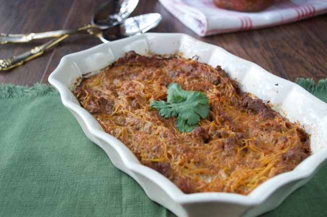 Enchilada Pasta | Plaid and Paleo