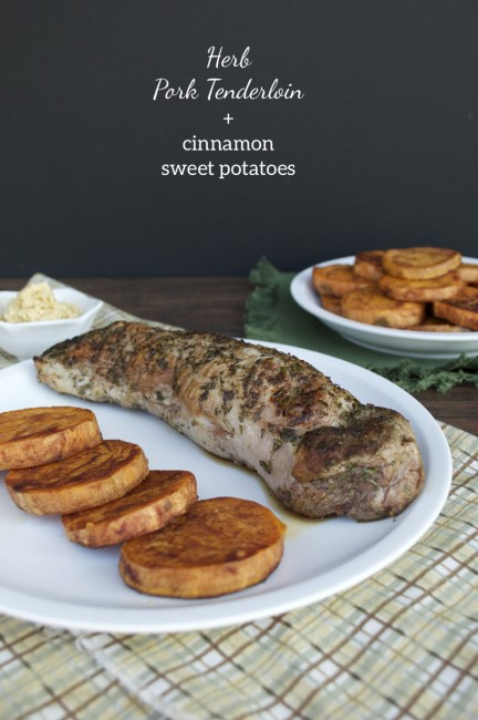 Herb Pork Loin + Cinnamon Sweet Potatoes | Plaid & Paleo