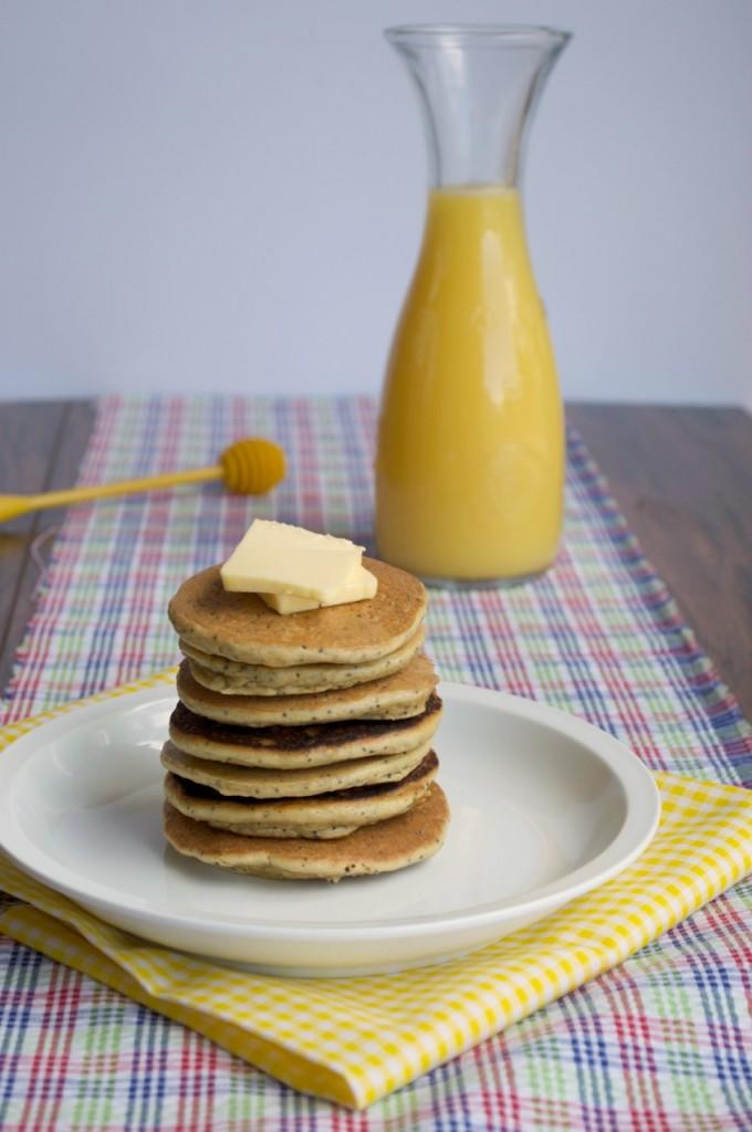 Lemon Poppyseed Pancakes | Plaid & Paleo