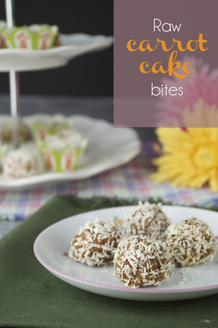 Raw Carrot Cakes Bites | Plaid & Paleo