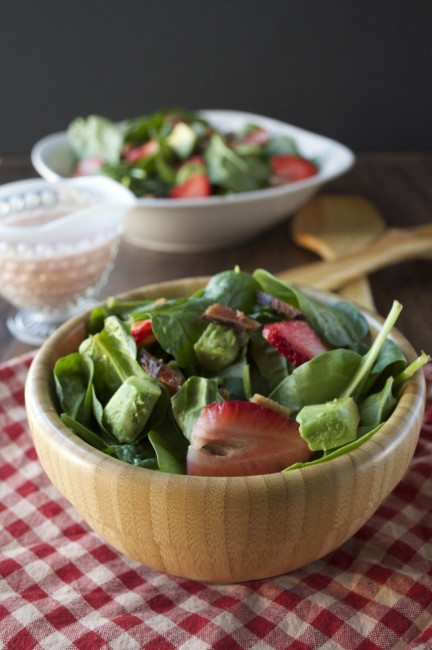 Strawberry Cobb Salad + Tangy Poppyseed Dressing | Plaid & Paleo