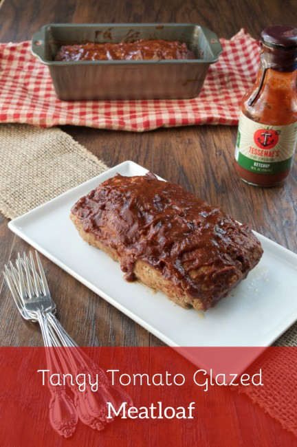 Tangy Tomato Glazed Meatloaf | Plaid & Paleo