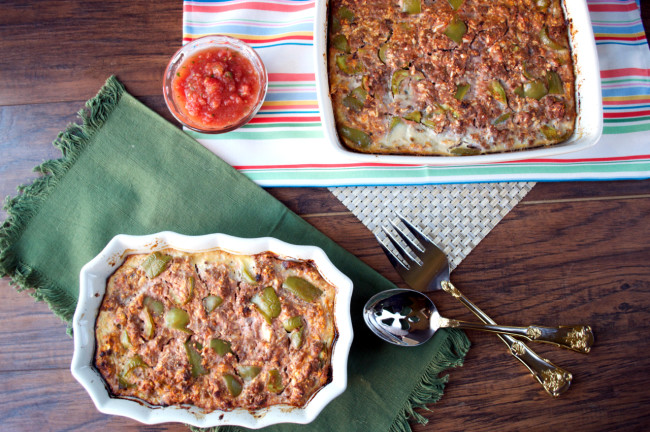 Stuffed Pepper Casserole | Plaid and Paleo