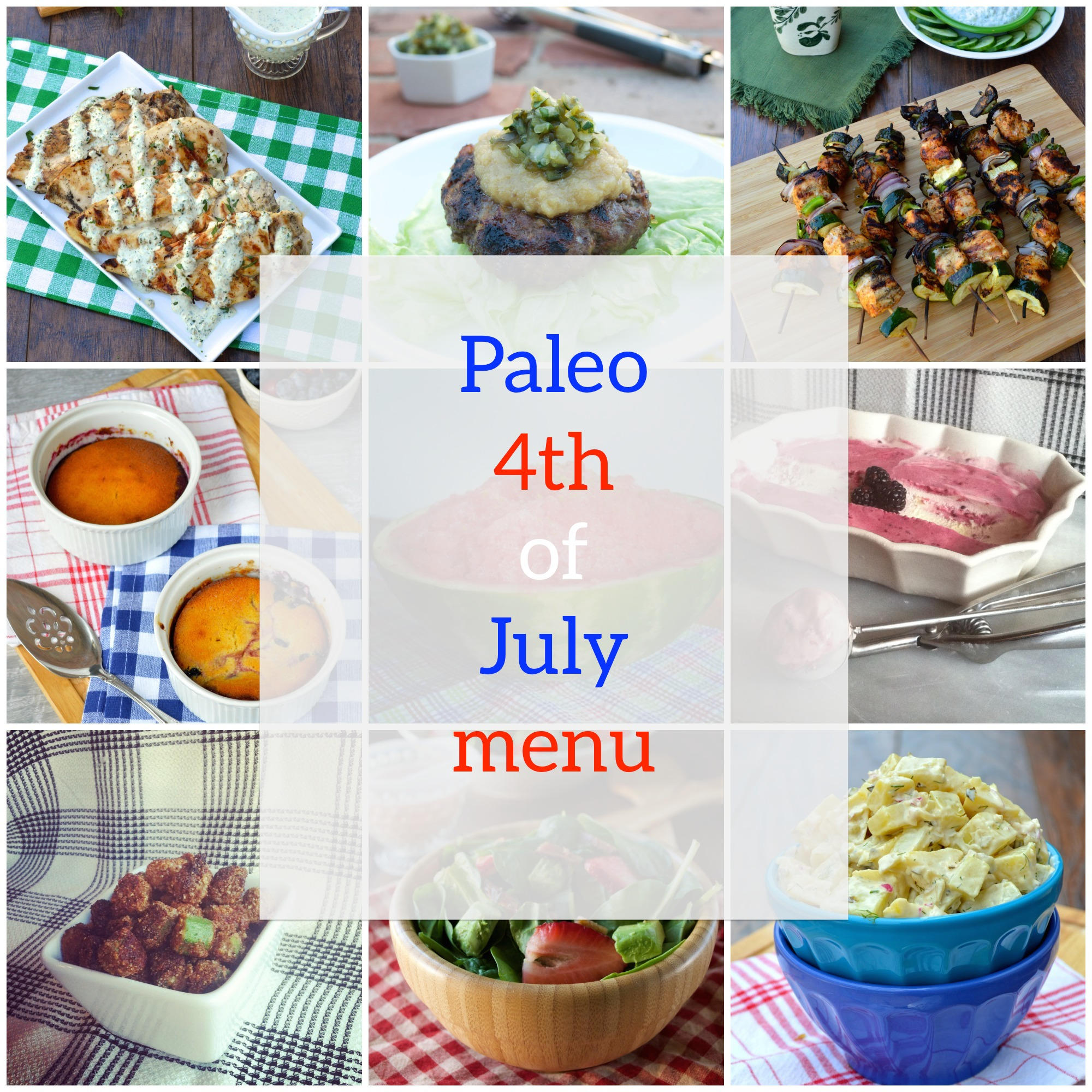 Paleo 4th of July Menu