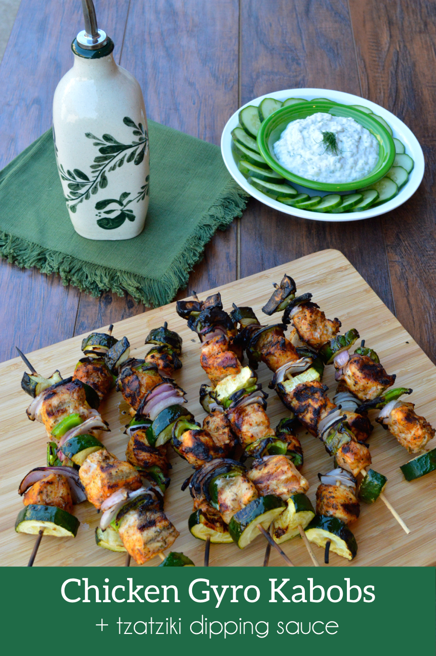 Chicken Gyro Kabobs | Plaid & Paleo