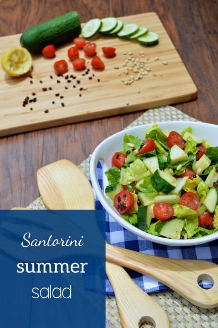 Santorini Summer Salad | Plaid and Paleo