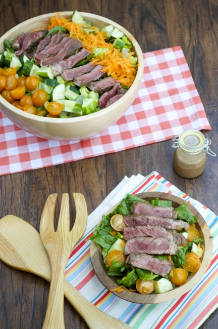 Balsamic Ginger Steak Salad | Plaid and Paleo