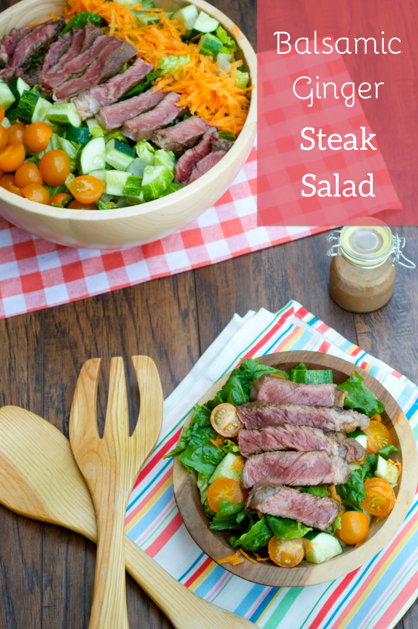 Balsamic Ginger Steak Salad
