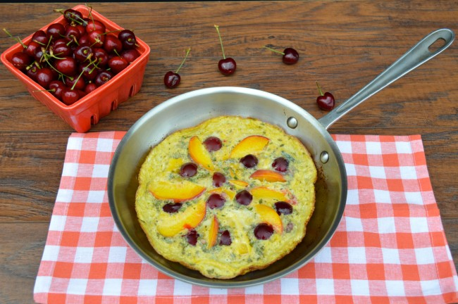 Peach and Cherry Frittata | Plaid and Paleo