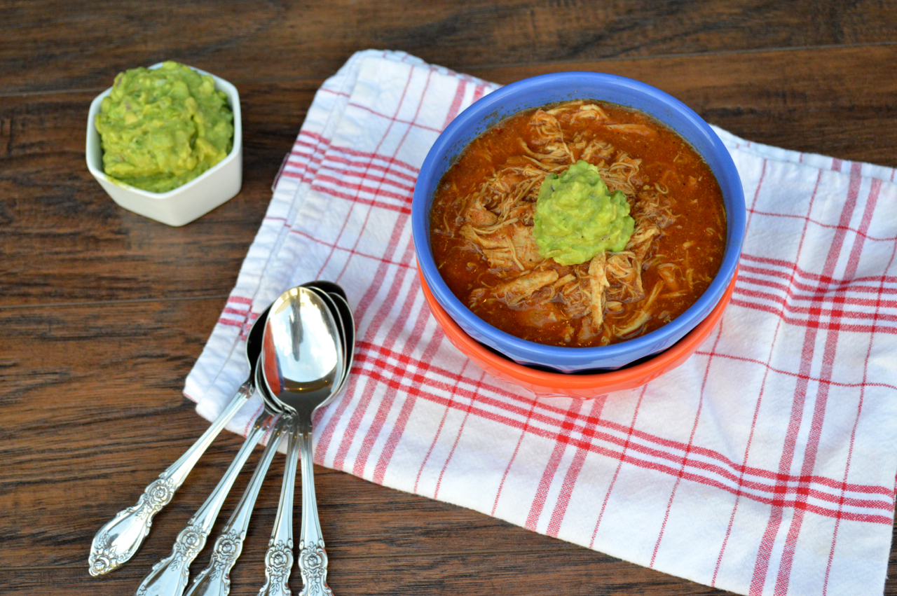 Chicken Enchilada Soup | Plaid and Paleo