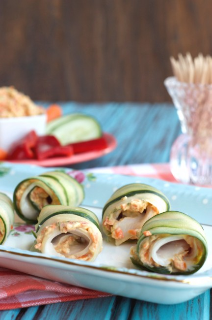 Turkey Cucumber Roll Ups | Plaid and Paleo