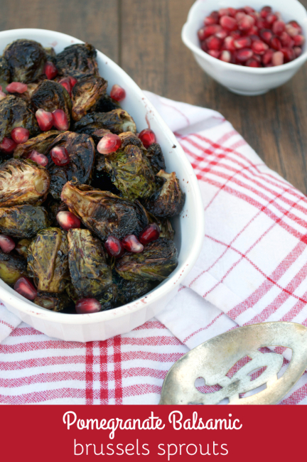 Pomegranate Balsamic Brussels Sprouts | Plaid and Paleo