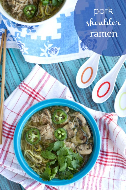 Pork Shoulder Ramen | Plaid and Paleo