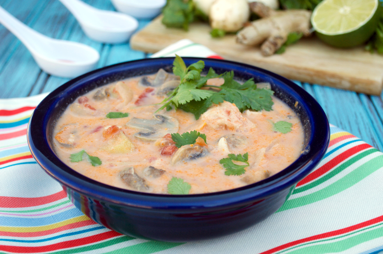 Crockpot Tom Kha Yum Soup Plaid Paleo