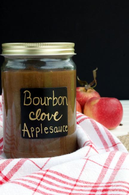 Bourbon Clove Applesauce | Plaid and Paleo