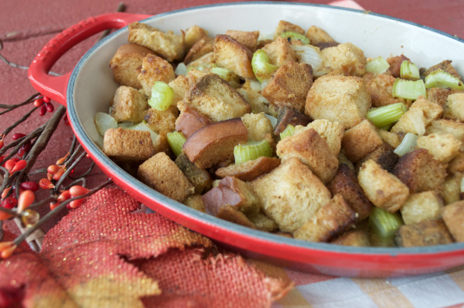 Grain-free Traditional Stuffing   Plaid and Paleo