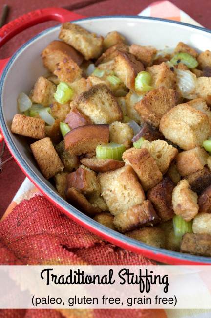 Grain-free Traditional Stuffing | Plaid and Paleo