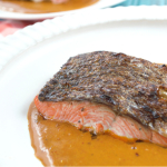 Crispy Salmon Skin with Curry Sauce | Plaid and Paleo