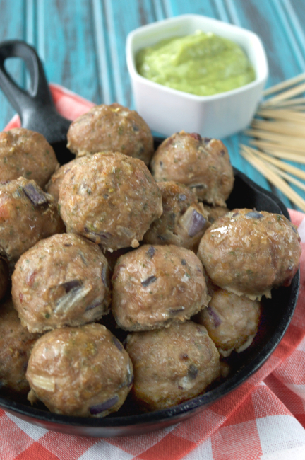 Guest Post: Bacon Ranch Meatballs with Avocado Ranch Dip | Everyday Maven