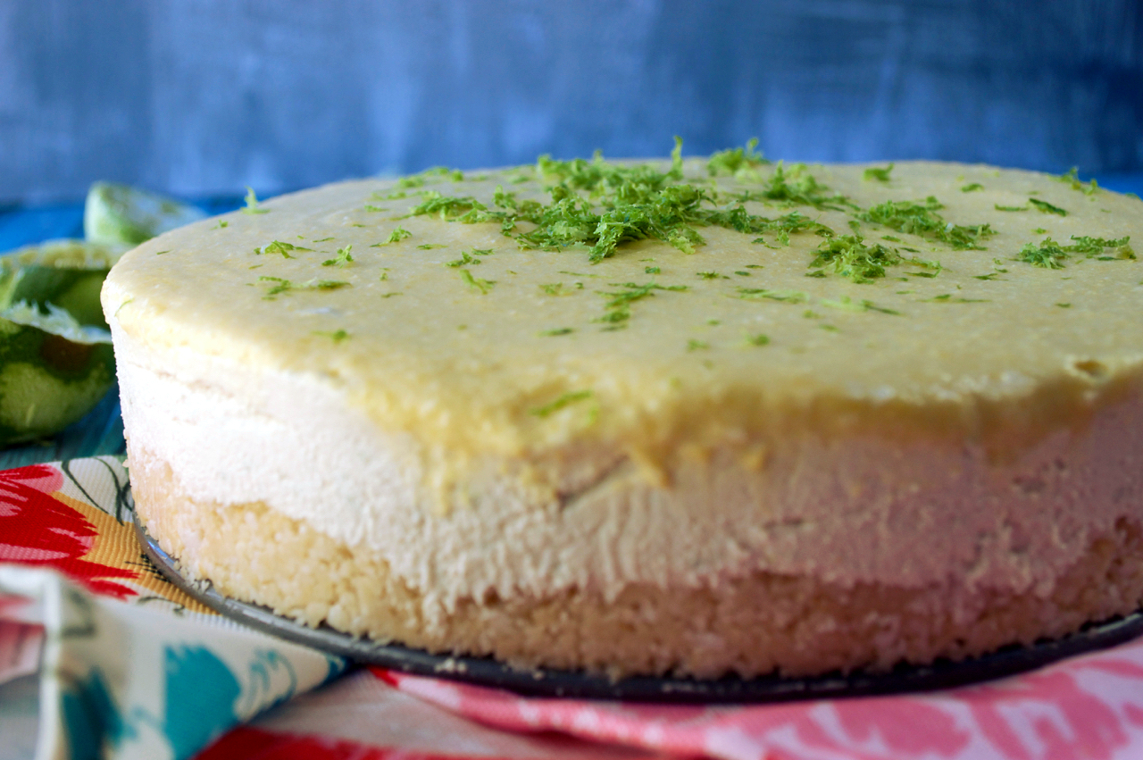 Mango Key Lime Cheesecake | Plaid & Paleo