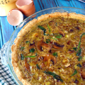 Spinach and Artichoke Quiche from Make it Paleo II | Plaid and Paleo