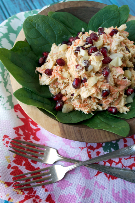 Pomegranate Chicken Salad | Plaid and Paleo