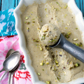 Dairy-free Chamomile Pistachio Ice Cream | Plaid and Paleo
