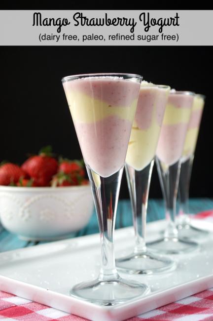 Mango Strawberry Yogurt | Plaid and Paleo