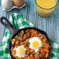 Roasted Poblano, Sausage and Sweet Potato Hash | Plaid and Paleo