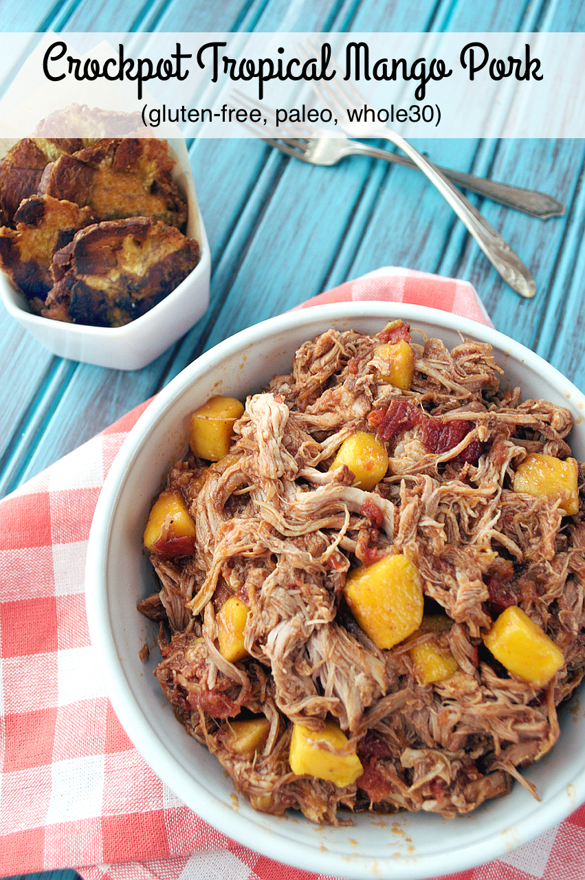 Crockpot Tropical Mango Pork | Plaid and Paleo